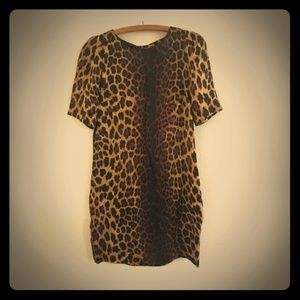 Nwot Zara basic leopard pocket dress